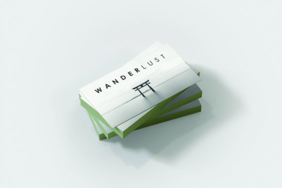 Print on Demand: WANDERLUST: a Travellers Business Card Grafik Druck-Templates von denestudios