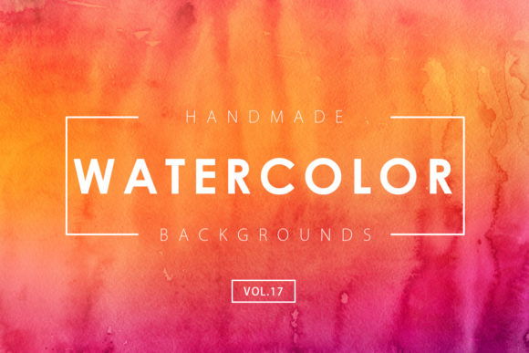 Print on Demand: Watercolor Backgrounds 17 Graphic Backgrounds By ArtistMef