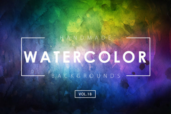 Print on Demand: Watercolor Backgrounds 18 Graphic Backgrounds By ArtistMef