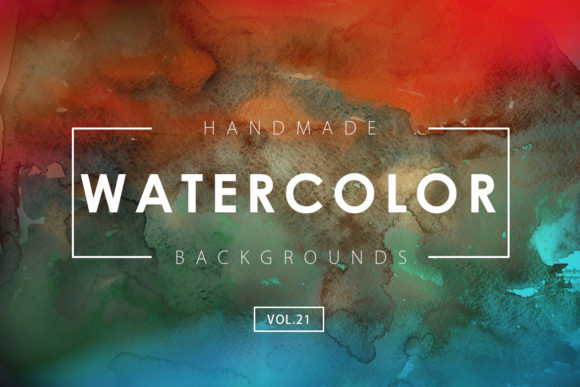 Print on Demand: Watercolor Backgrounds 21 Gráfico Fondos Por ArtistMef