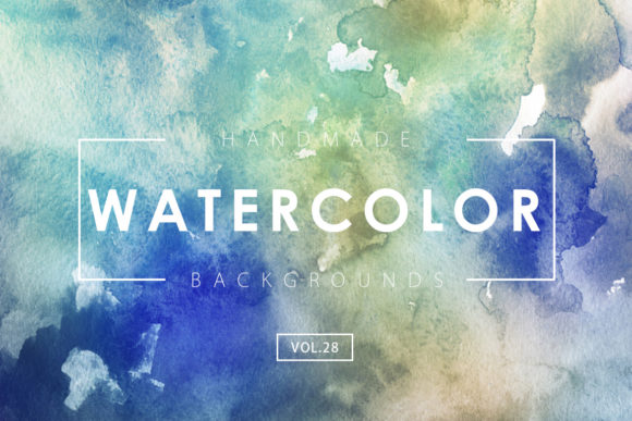 Print on Demand: Watercolor Backgrounds 28 Graphic Backgrounds By ArtistMef