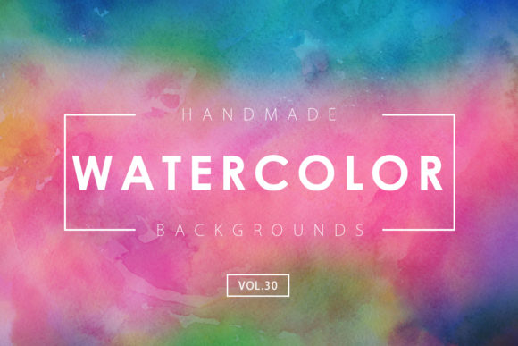Print on Demand: Watercolor Backgrounds 30 Graphic Backgrounds By ArtistMef