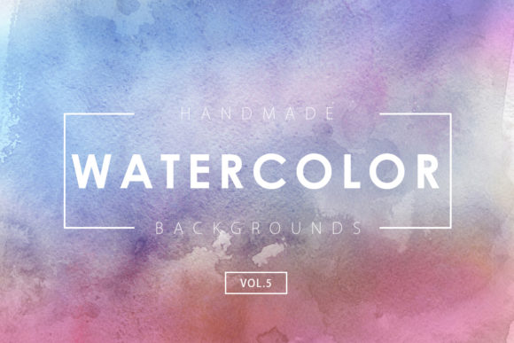 Print on Demand: Watercolor Backgrounds 5 Graphic Backgrounds By ArtistMef