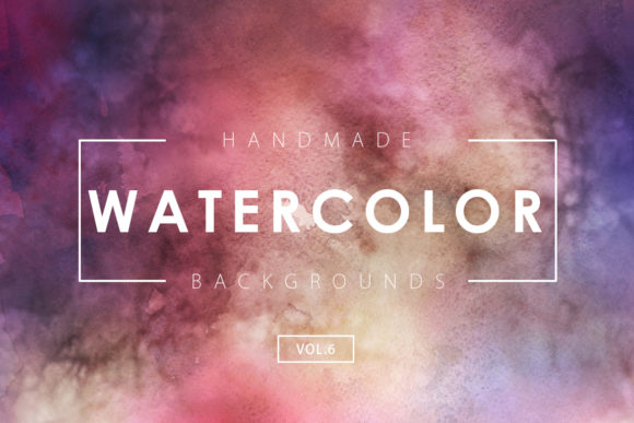 Print on Demand: Watercolor Backgrounds 6 Graphic Backgrounds By ArtistMef