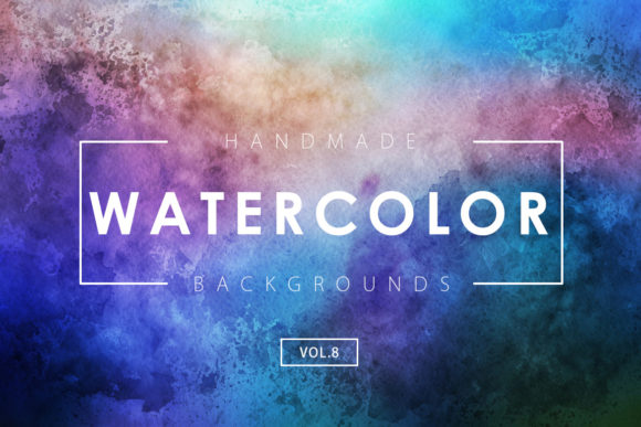 Print on Demand: Watercolor Backgrounds 8 Graphic Backgrounds By ArtistMef