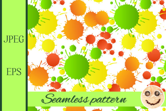 Print on Demand: Watercolor Drops Seamless Pattern 1 Graphic Patterns By TasiPas