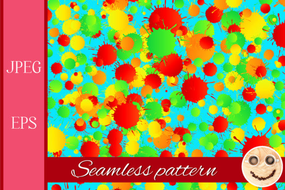 Print on Demand: Watercolor Drops Seamless Pattern 2 Graphic Patterns By TasiPas - Image 1