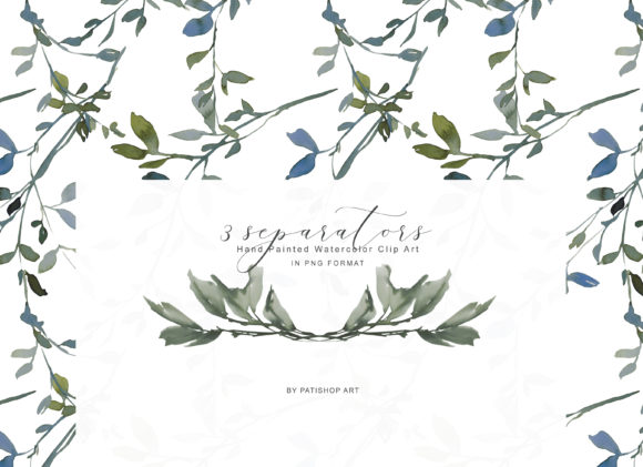 Watercolor Leafy Clipart Collection