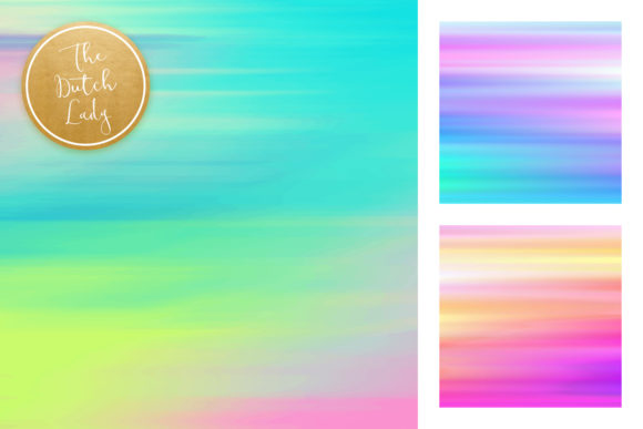 Watercolor Stripe & Smear Backgrounds