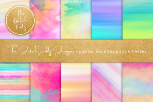 Watercolor Stripe & Smear Backgrounds Graphic By daphnepopuliers