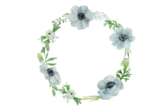 Print on Demand: Watercolour Anemone Graphic Illustrations By Primafox Design - Image 3