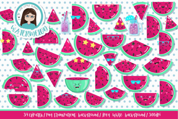 Download Free Watermelon Kawaii Clipart Graphic By Cutelittleclipart for Cricut Explore, Silhouette and other cutting machines.