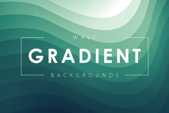 Print on Demand: Wave Gradient Backgrounds Graphic Backgrounds By ArtistMef