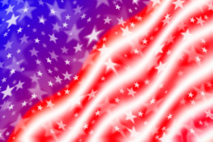 Waving American Flag Background Graphic By TasiPas