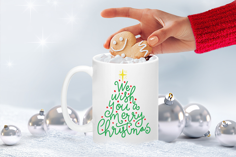 Download Free We Wish You A Merry Christmas Grafik Von Carrtoonz Creative for Cricut Explore, Silhouette and other cutting machines.