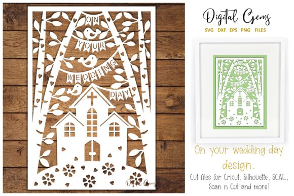 Wedding Papercut Design Graphic By Digital Gems