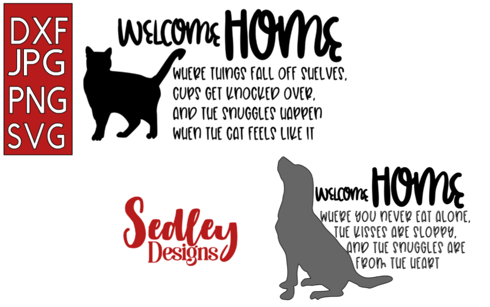 Download Free Welcome Home Pet Bundle Graphic By Sedley Designs Creative Fabrica for Cricut Explore, Silhouette and other cutting machines.