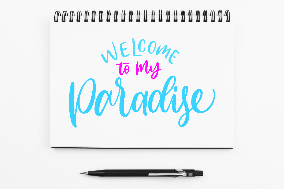 Download Free Welcome To My Paradise Graphic By Kreasari Creative Fabrica for Cricut Explore, Silhouette and other cutting machines.