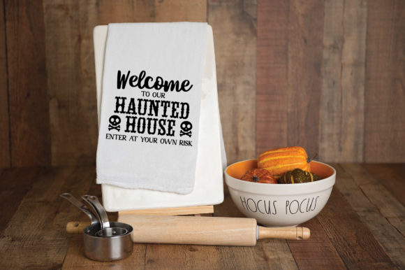 Welcome to Our Haunted House Graphic Crafts By oldmarketdesigns - Image 4