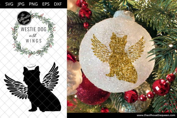 Download Free Westie Dog 8 With Wings Graphic By Thesilhouettequeenshop for Cricut Explore, Silhouette and other cutting machines.