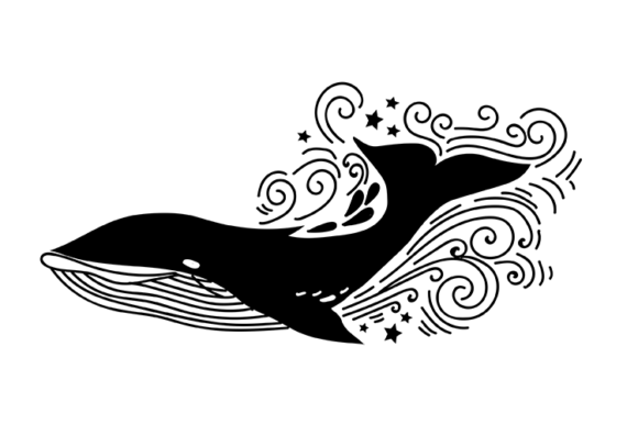Whale Graphic By carrtoonz