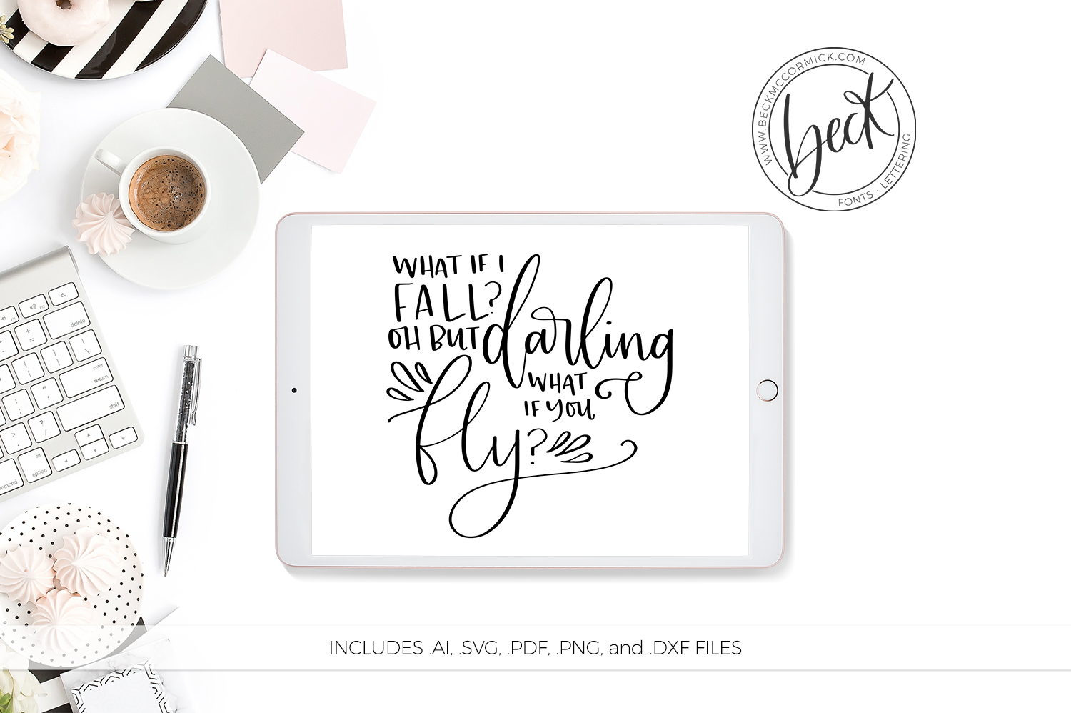 Download Free What If I Fall Graphic By Beckmccormick Creative Fabrica for Cricut Explore, Silhouette and other cutting machines.