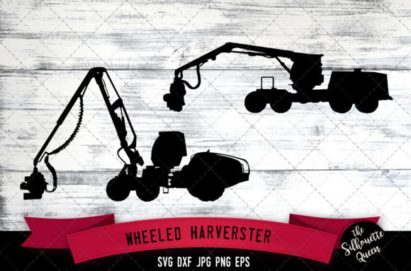 Download Free Wheeled Harvester Grafik Von Thesilhouettequeenshop Creative for Cricut Explore, Silhouette and other cutting machines.