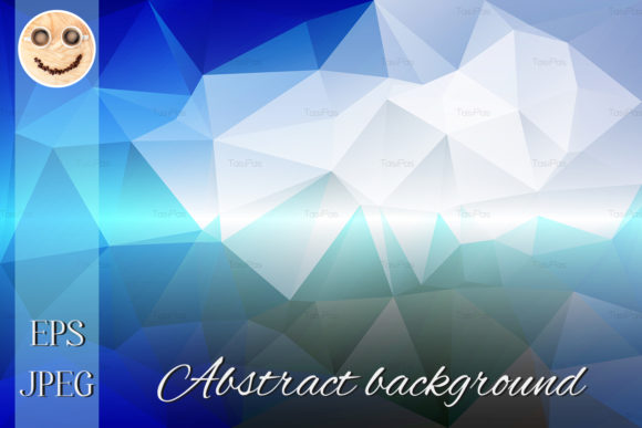 Print on Demand: White Blue Shades Low Poly Background Graphic Illustrations By TasiPas