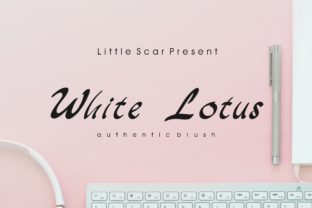 White Lotus Font By little scar