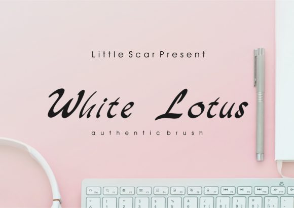 Print on Demand: White Lotus Script & Handwritten Font By little scar