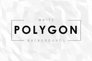 White Polygon Backgrounds Graphic By ArtistMef