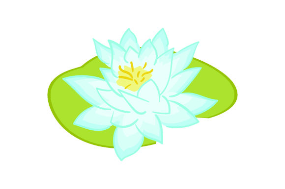 White Water Lily Nature & Outdoors Craft Cut File By Creative Fabrica Crafts - Image 1