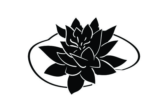 White Water Lily Nature & Outdoors Craft Cut File By Creative Fabrica Crafts - Image 2