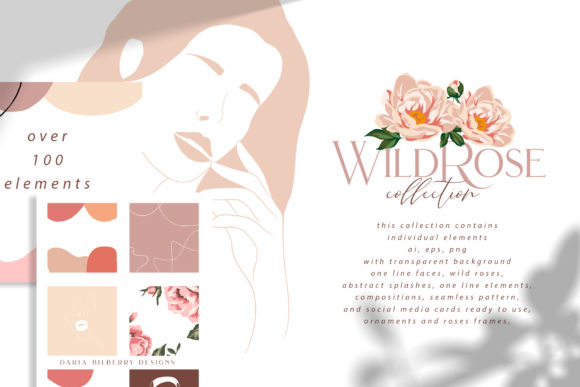 Wild Rose Illustration Graphic Illustrations By BilberryCreate - Image 1