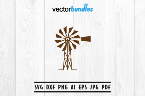 Windmill Clip Art Svg Graphic By Vectorbundles Creative Fabrica