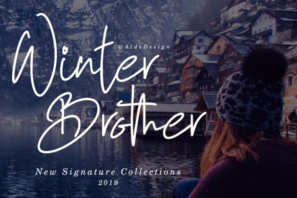 Print on Demand: Winter Brother Manuscrita Fuente Por aldedesign