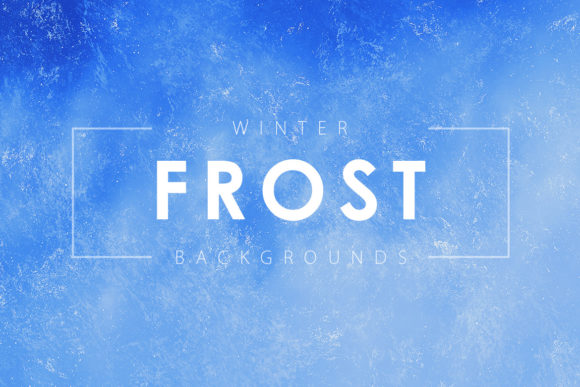 Print on Demand: Winter Frost Backgrounds Graphic Backgrounds By ArtistMef