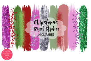 Winter Holiday Brush Strokes Clipart Graphic By Happy Printables Club