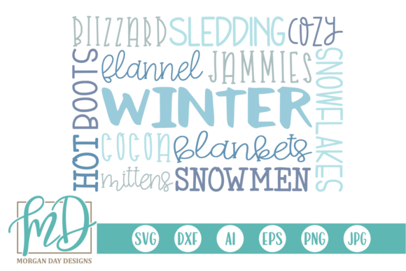 Winter Subway Art Graphic Crafts By Morgan Day Designs