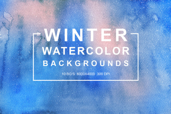 Winter Watercolor Backgrounds Vol.1 Graphic By freezerondigital