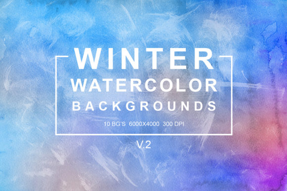 Print on Demand: Winter Watercolor Backgrounds Vol.2 Graphic Backgrounds By freezerondigital