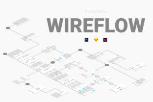 Wireflow Flowcharts Graphic UX and UI Kits By Web Donut