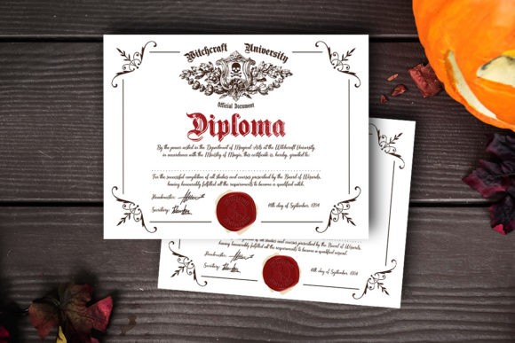 Witch/ Wizard Diploma Graphic Crafts By danieladoychinovashop - Image 2