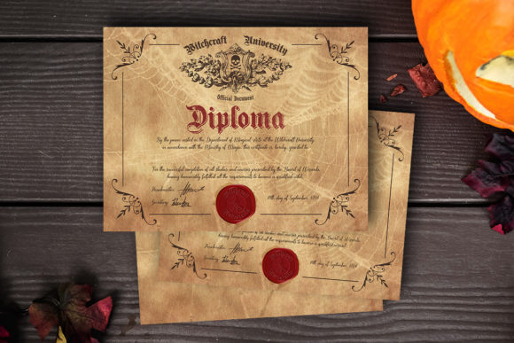 Witch/ Wizard Diploma Graphic Crafts By danieladoychinovashop
