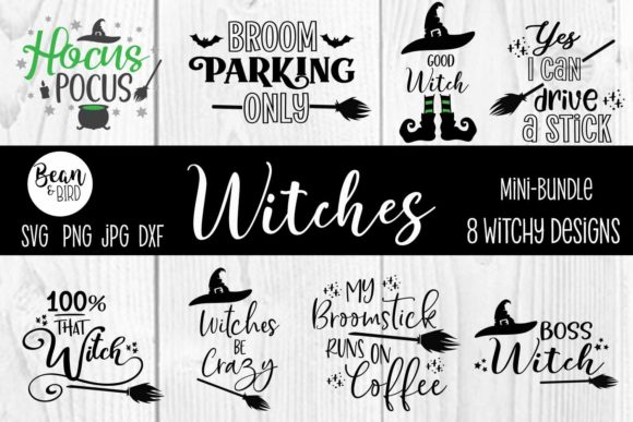 Print on Demand: Witches Halloween Mini Bundle Graphic Crafts By Jessica Maike