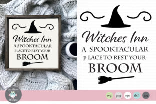 Witches Inn a Spooktacular Place to Rest Your Broom Graphic By thejaemarie