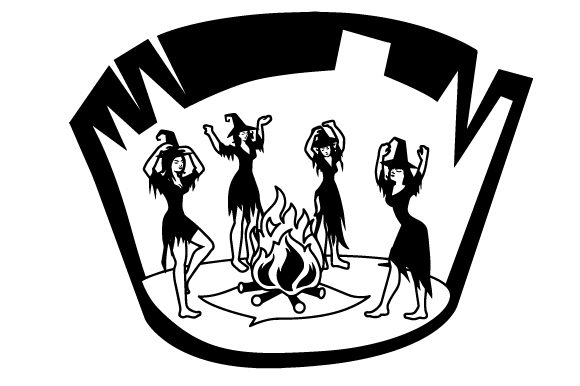 Download Free Witches Dancing Around Fire Svg Plotterdatei Von Creative for Cricut Explore, Silhouette and other cutting machines.