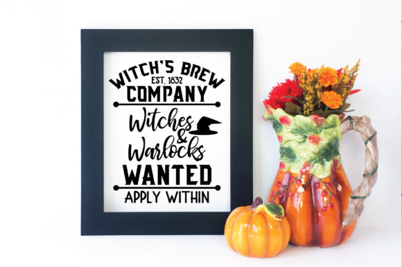 Download Free Witch S Brew Company Witches And Warlocks Wanted Graphic By for Cricut Explore, Silhouette and other cutting machines.