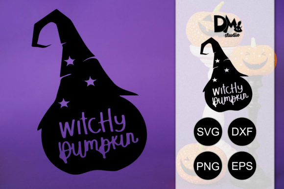 Download Free Witchy Pumpkin Halloween Quotes Graphic By Sharon Dmstudio for Cricut Explore, Silhouette and other cutting machines.