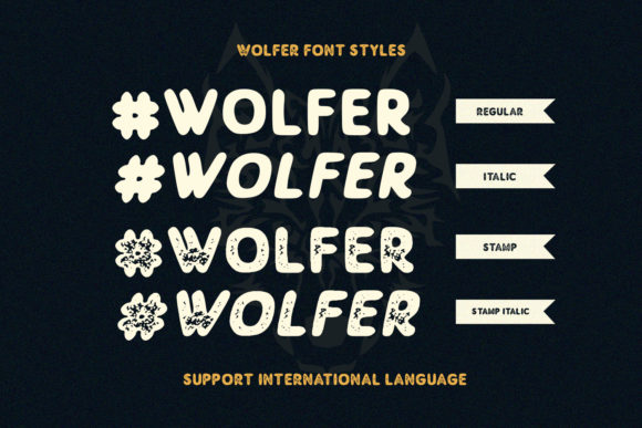 Print on Demand: Wolfer Display Font By Sameeh Media - Image 3